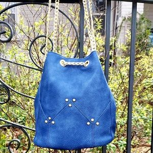 Pink Haley Blue Bucket Style Bag